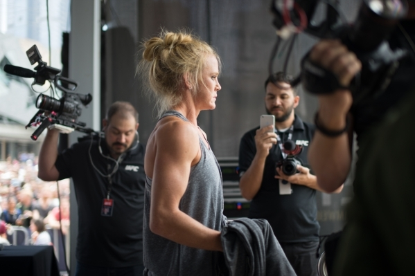 UFC crews film Holly Holm for the Embedded series in Australia leading up to UFC 193. Courtesy, UFC