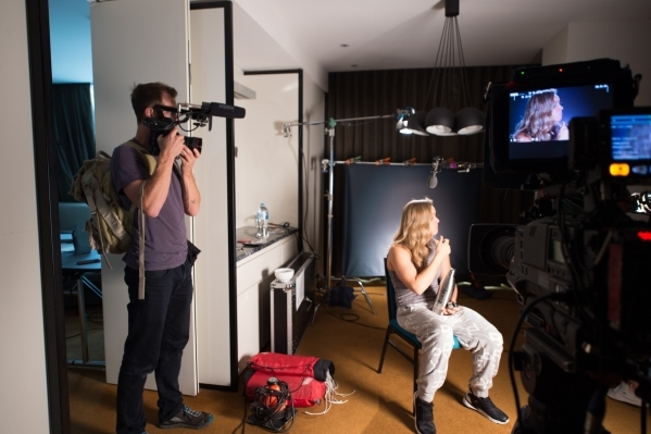 A camera zooms in on Ronda Rousey's profile as she sits during filming for the Embedded series in Australia leading up to UFC 193. Courtesy, UFC