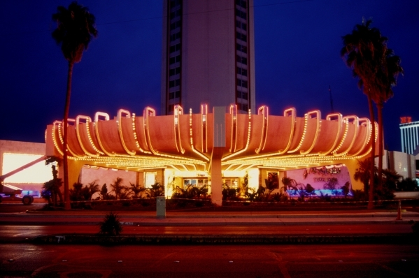 "LAS VEGAS, NV-10/14/94:The Landmark Hotel is transformed into the mythical hotel ""Tangiers"" for the movie ""Casino""."