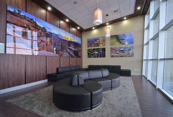 The VIP area is shown at the new Maverick Helicopters terminal at 6075 Las Vegas Blvd. South on Tuesday, Nov. 17, 2015. Bill Hughes/Las Vegas Review-Journal