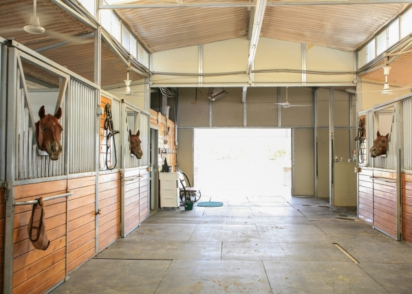The northwestern Las Vegas Valley ranch has an air-conditioned barn to keep the horses cool in the summer months. ELKE COTE/REAL ESTATE MILLIONS