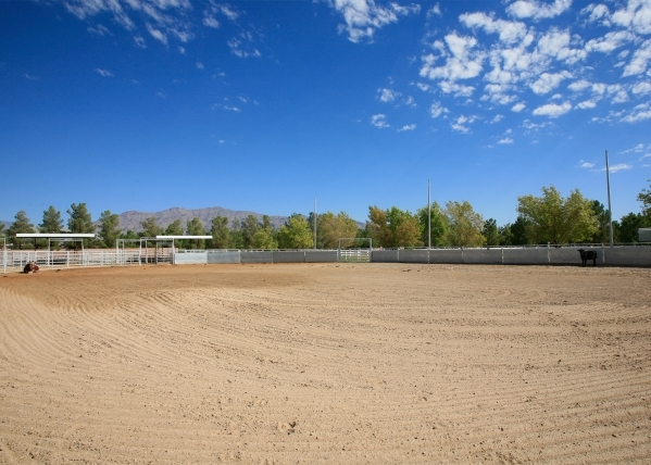 The ranch has an exercise pen for the horses and other animals. ELKE COTE/REAL ESTATE MILLIONS