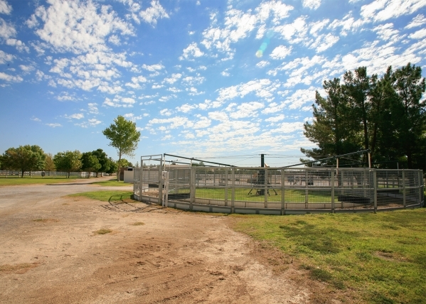 In the ranch area of the overall property, there is also a horse walking turnstile. ELKE COTE/REAL ESTATE MILLIONS