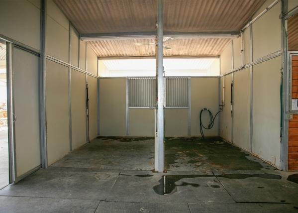 The barn has shower stalls. ELKE COTE/REAL ESTATE MILLIONS