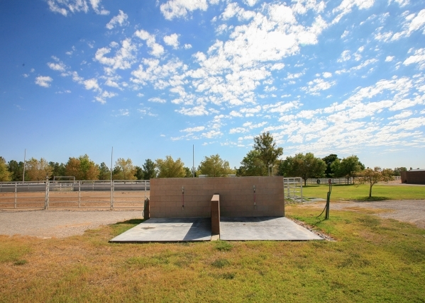 The working ranch has several outdoor wash stations for the animals. ELKE COTE/REAL ESTATE MILLIONS