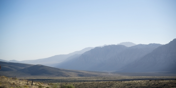 Scenery is seen inside the scenic loop of the Red Rock Canyon National Conservation Area on Monday, Nov. 16 2015. Red Rock is celebrating its 25th anniversary as a national conservation area. Dani ...