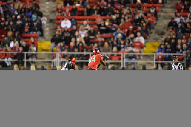 during the San Diego State at UNLV game at Sam Boyd Stadium on Saturday, November 21, 2015, in Las Vegas. San Diego State leads at the half 31-0. Brett Le Blanc/Las Vegas Review-Journal Follow @bl ...