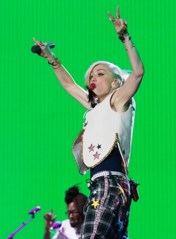 Gwen Stefani of No Doubt performs on the main stage during the Rock in Rio music festival in Las Vegas in the early hours of Saturday, May 9, 2015. (Chase Stevens/Las Vegas Review-Journal) Follow  ...