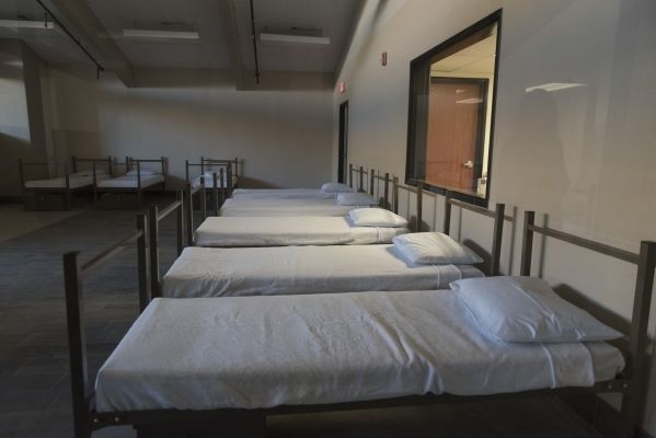 Beds are seen at the soon to be open WestCare Community Triage Center at 323 N. Maryland Pkwy. in Las Vegas Thursday, Nov. 19, 2015. Jason Ogulnik/Las Vegas Review-Journal