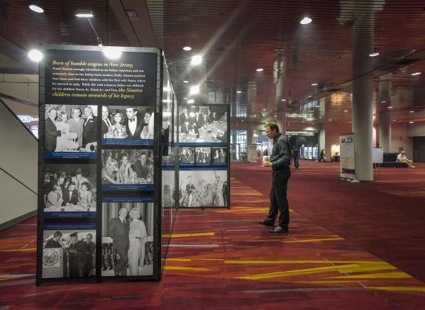 The Frank Sinatra Centennial Exhibit by the Las Vegas News Bureau on display in the Las Vegas Convention Center on Friday, Oct. 23, 2015. CREDIT: Mark Damon/Las Vegas News Bureau