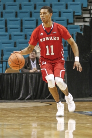Howard guard James Daniel plays against Texas Southern in the Middleweight Division at the Men Who Speak Up Main Event at the MGM Grand Garden Arena on Monday, Nov. 23, 2015. Howard beat Texas Sou ...