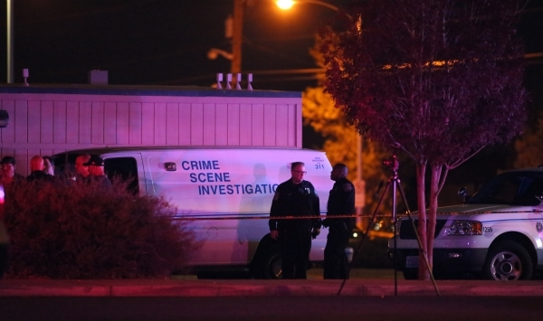 North Las Vegas police work at Mojave High School, 5302 Goldfield St. in North Las Vegas, where one person is dead after a shooting on Friday, Nov. 20, 2015. Brett Le Blanc/Las Vegas Review-Journal