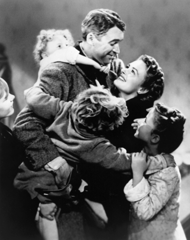 IT'S A WONDERFUL LIFE -- Pictured: James Stewart, Donna Reed -- NBC Photo