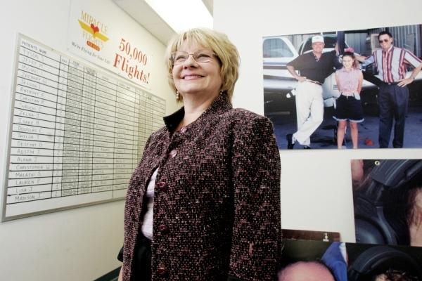 Miracle Flights for Kids founder Ann McGee poses in her office at 6396 McLeod Drive in Las Vegas, Nev., Wednesday, December 5, 2007, in Las Vegas. (Craig L. Moran/Las Vegas Review-Journal)
