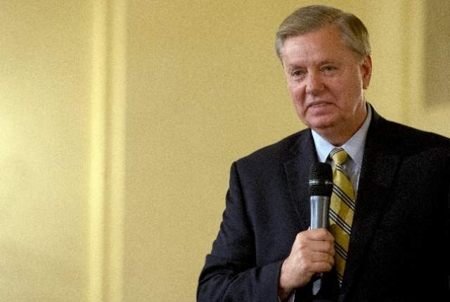 U.S. Republican presidential candidate Senator Lindsey Graham (R-SC) speaks during a campaign event in New York July 20, 2015. (Brian McDermid/Reuters)