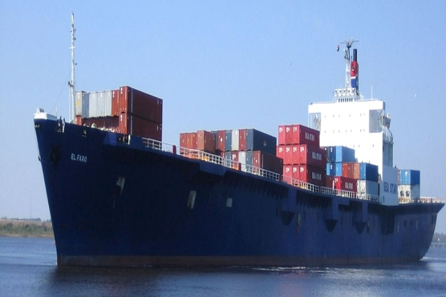 The cargo ship El Faro is pictured in this undated handout photo provided by Tote Inc. on October 4, 2015. Search-and-rescue teams on Sunday located debris appearing to belong to the cargo ship El ...