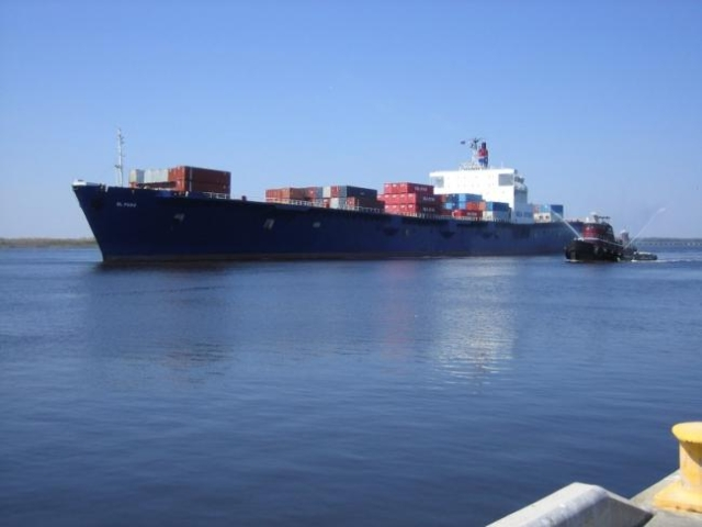 The El Faro is shown in this photo provided by Tote Maritime in Jacksonville, Fla., October 2, 2015. (REUTERS/Tote Maritime)