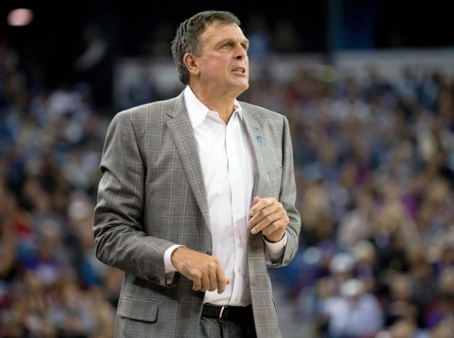 Nov 6, 2015; Sacramento, CA, USA; Houston Rockets head coach Kevin McHale on the sideline against the Sacramento Kings during the second quarter at Sleep Train Arena. (Kelley L Cox/USA Today Sports)