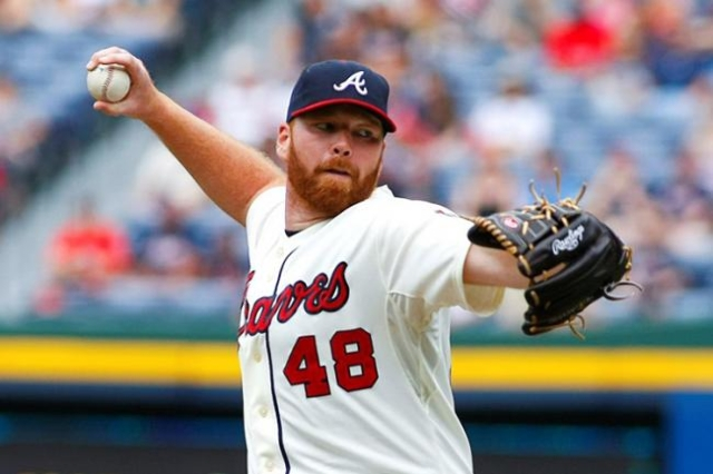 File photo of Atlanta Braves starting pitcher Tommy Hanson throwing in the first inning during their MLB National League baseball game against the Washington Nationals at Turner Field in Atlanta,  ...