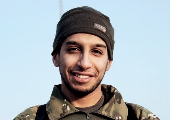 An undated photograph of a man described as Abdelhamid Abaaoud that was published in the Islamic State's online magazine Dabiq and posted on a social media website. (Social Media Website /Re ...