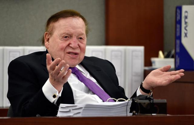 Las Vegas Sands Corp. Chairman and CEO Sheldon Adelson (Las Vegas Review-Journal)
