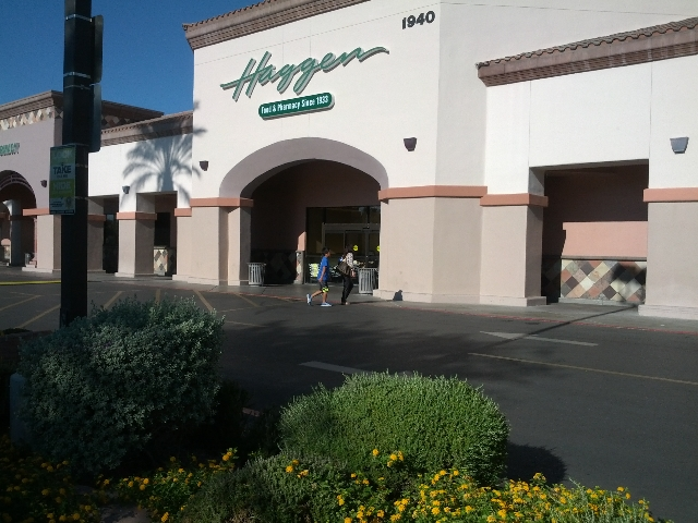 People are seen Friday, Sept. 25, 2015, near the Haggen store at 1940 Village Center Circle in western Las Vegas. The company plans to leave the Nevada market as well as the Pacific Southwest.  ...