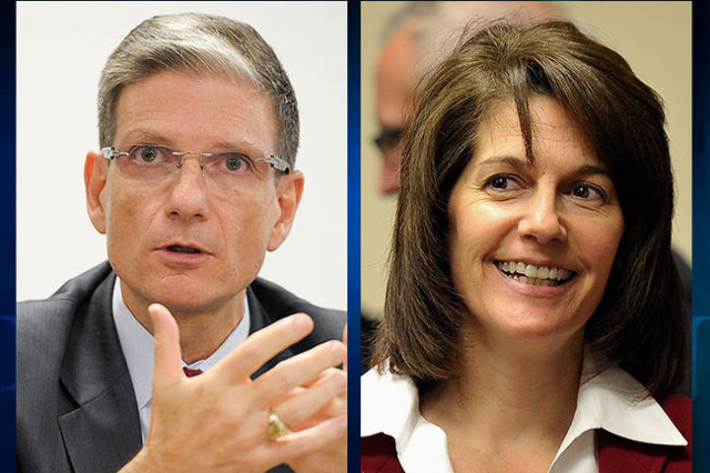 U.S. Rep. Joe Heck and former Nevada Attorney General Catherine Cortez Masto (Review-Journal)