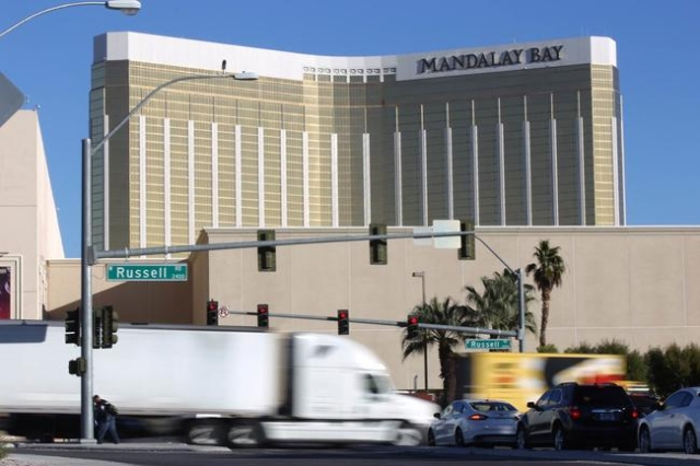 One person died after a minivan collided with a tractor-trailer on Russell Road near Frank Sinatra Drive, south of Mandalay Bay, Friday, Nov. 13, 2015. (Brett Le Blanc/Las Vegas Review-Journal Fol ...