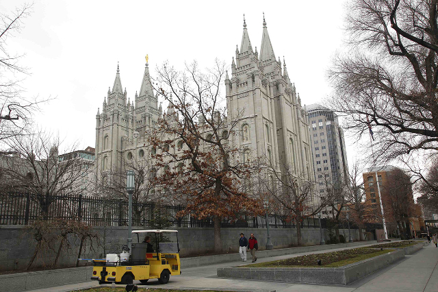 The Church of Jesus Christ of Latter-Day Saints' temple is pictured in Salt Lake City, Utah January 27, 2015. The Church of Jesus Christ of Latter-Day Saints announced it supports the passag ...