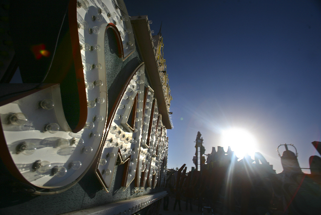 The Neon Museum at 770 Las Vegas Boulevard as seen  Oct. 17, 2012.  The museum, which has more than 150 vintage neon signs, will open on Oct. 27.  (Jeff Scheid/Las Vegas Review-Journal)