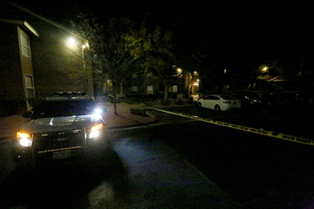 A woman was found dead Sunday, Nov. 22, 2015, at SkyPointe Landing Apartment Homes. (Rachel Aston/Las Vegas Review-Journal)