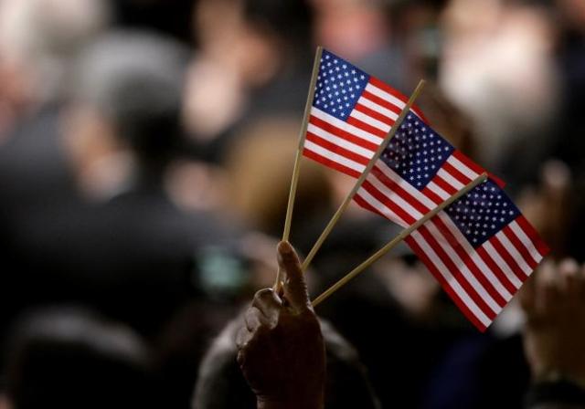 American flag. (Jessica Ebelhar/Las Vegas Review-Journal)