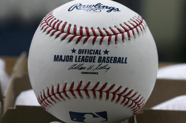 A baseball ready for export is pictured at the Rawlings factory in Turrialba, Costa Rica March 3, 2010. The average baseball is only used for a few pitches in the U.S. Major Leagues, but for the C ...