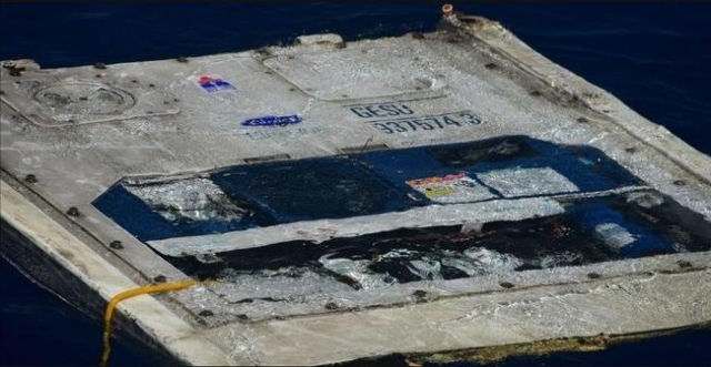 Debris from the El Faro search area. (CNN)