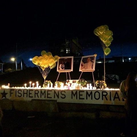A memorial was held at Harbor Park in Rockland, Maine, the hometown of Danielle Randolph and Dylan Meklin to honor and remember the passengers on board El Faro. (CNN)