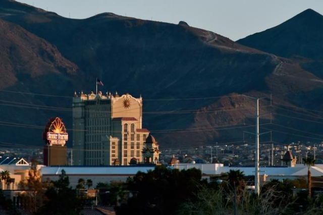 The Sunset Station hotel-casino is seen on Monday, March 9, 2015 in Henderson. (David Becker/Las Vegas Review-Journal)