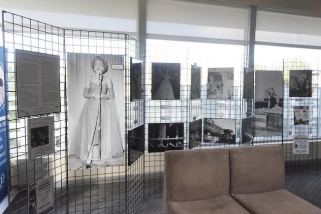 A transgender history of Las Vegas exhibit is displayed in the lobby area of The Gay & Lesbian Community Center of Southern Nevada in Las Vegas Sunday, Nov. 15, 2015. Jason Ogulnik/Las Vegas R ...