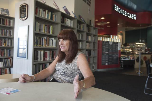 Ashley Anna Parks, a volunteer at The Gay & Lesbian Community Center of Southern Nevada, interviews at The Gay & Lesbian Community Center of Southern Nevada in Las Vegas Sunday, Nov. 15, 2 ...