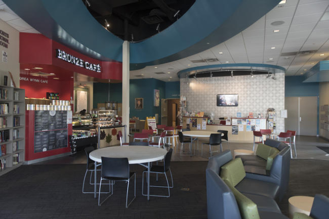 The Bronze Cafe and lobby area of The Gay & Lesbian Community Center of Southern Nevada at 401 S. Maryland Pkwy. in Las Vegas are seen Sunday, Nov. 15, 2015. Jason Ogulnik/Las Vegas Review-Journal