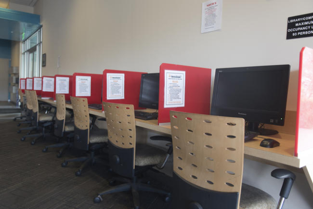 The computer workstation of The Gay & Lesbian Community Center of Southern Nevada at 401 S. Maryland Pkwy. in Las Vegas is seen Sunday, Nov. 15, 2015. Jason Ogulnik/Las Vegas Review-Journal