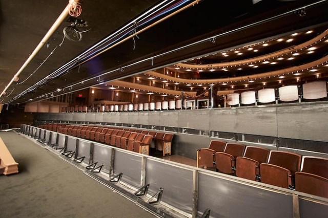 Photos of the orchestra pit. (Courtesy Smith Center)