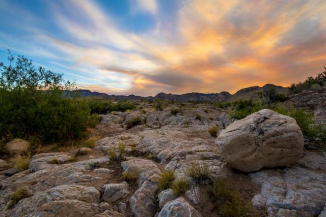 The sun sets in the desert of the Southwest valley of Las Vegas on Wednesday, June 24, 2015. (Joshua Dahl/Las Vegas Review-Journal)