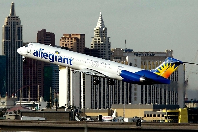 Allegiant Airlines is adding two new cities to its route map — Flint, Mich., and Dayton, Ohio — and adding new flights to the South from its East Coast network. (Las Vegas Review-Journal File)