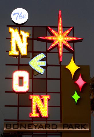 The Neon Museum at 770 Las Vegas Boulevard as seen Oct. 17, 2012. (Jeff Scheid/Las Vegas Review-Journal)