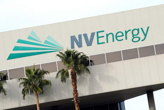 NV Energy is seen on Monday, Dec. 1, 2014, in Las Vegas. (David Becker/Las Vegas Review-Journal)