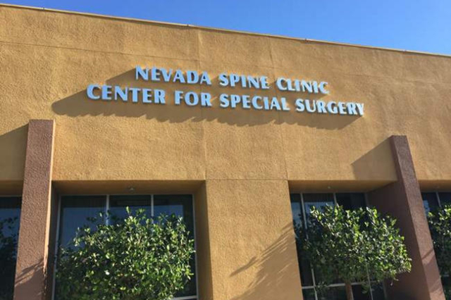 Nevada Spine Clinic is shown on Tuesday, June 16, 2015. (Carri Geer/Las Vegas Review-Journal)