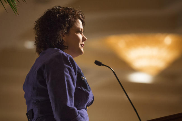 Nevada first lady Kathleen Sandoval speaks during the Las Vegas Perspective on March 26,2014. (Jeff Scheid/Las Vegas Review-Journal)