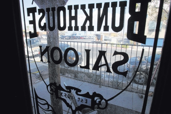 The Bunkhouse Saloon downtown abruptly closed Monday. (Erik Verduzco/Las Vegas Review-Journal file photo)