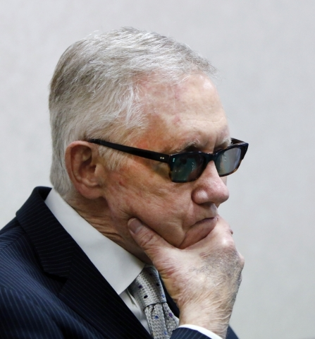 Senate Minority Leader Harry Reid, D-Nev., speaks during a question-and-answer session with Las Vegas Review-Journal reporters and editors at the Review-Journal on Wednesday, Aug. 12, 20156. K.M.  ...