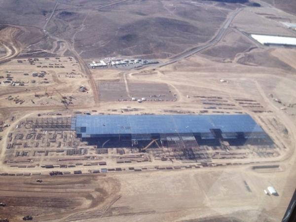 Construction is progressing on Tesla Motors' Gigafactory at Tahoe Reno Industrial Center. (Tesla Motors)